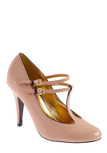 Gussied Up Heel - Pink, Solid, Buckles, Cutout, Formal, Wedding, Party, Work, Vintage Inspired, 20s, 30s, 40s, Show On Featured Sale, Pinup, Cocktail, Faux Leather, High