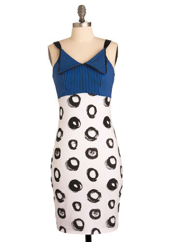Spots and Stripes Forever Dress - Mid-length