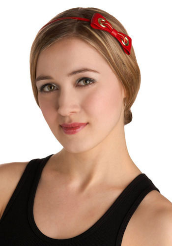Red Bow Bright Headband