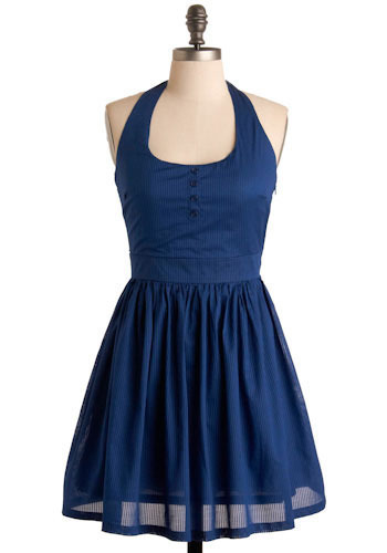 Halter, Who Goes There Dress by Jack by BB Dakota - Short