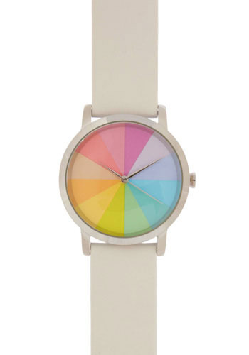 What Color Is It? Watch in Pastel Prism - White, Multi, Casual