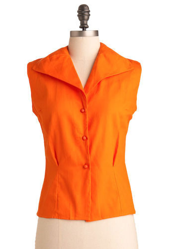 Vintage Orange a Meeting Top