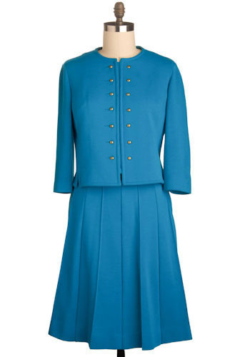 Vintage Sky's the Limit Skirt Suit