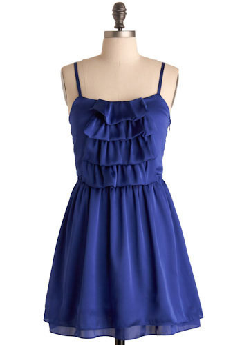 Paradise Falls Dress in Royal Blue - Short