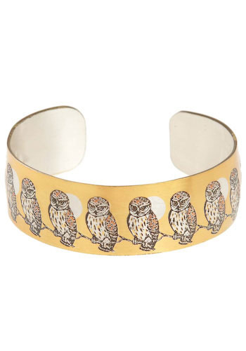 Vintage Owls All in a Row Cuff
