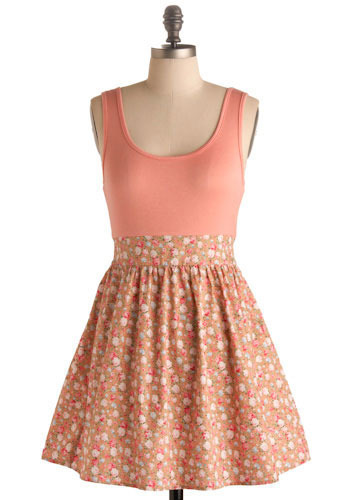 Peaches for Me Dress - Short