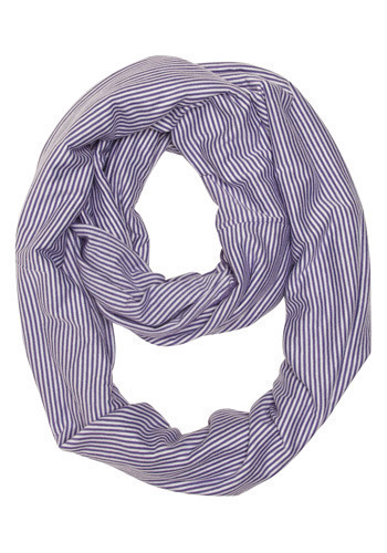 Circle Takes the Scarf - Purple, White, Stripes, Casual, Nautical, Spring, Summer, Fall