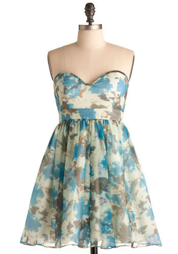 Flowers in the Fountain Dress - Short