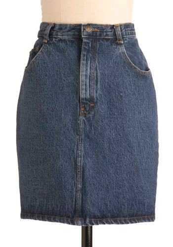 Vintage True Blue Jean Skirt