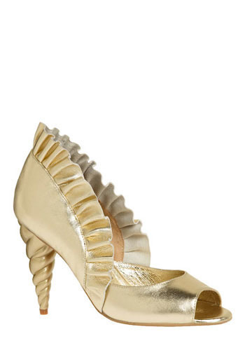 Unicorn Princess Heel in Gold by Jeffrey Campbell