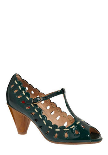 Green Tea-Strap Heel by Miz Mooz
