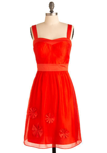 Rosette to the Occasion Dress - Mid-length