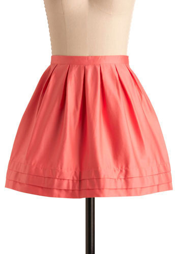 Basic Principles Skirt in Coral by Jack by BB Dakota - Short