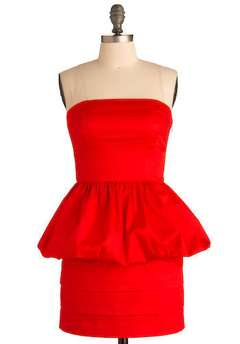 Get Red-y Dress by BB Dakota - Short