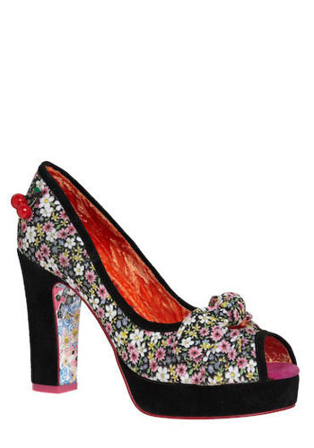 Hit the Dance Floral Heel by Irregular Choice