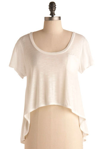 Walk 'n' Roll Top in White - Mid-length