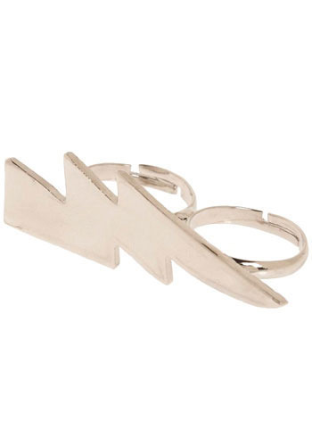 Strike Twice Ring - Silver, Gold, Solid, Casual, Statement