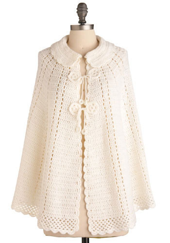 Vintage White Light Poncho
