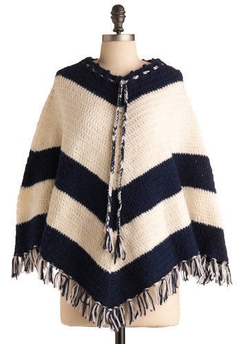 Vintage Yarn and Needles Poncho