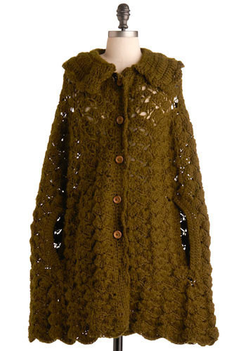 Vintage Hunter Green Gatherer Poncho