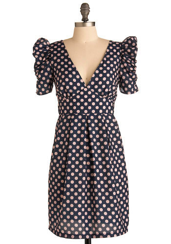 Powder Puff Polka Dot Dress - Short