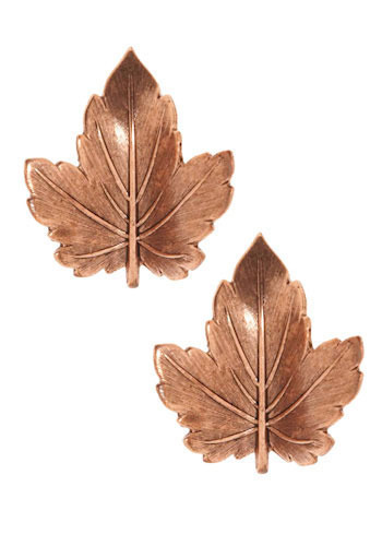 Don't Leaf Without Us Earrings - Bronze, Casual