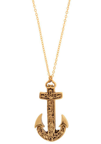 Anchoring for Accessories Necklace - Gold, Nautical, Spring, Summer