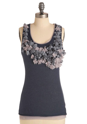Floral Eclipse Tank - Mid-length