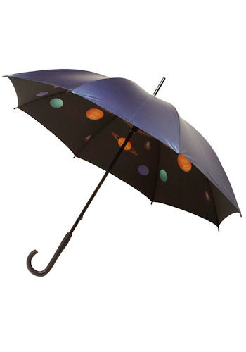 Undercover Space Explorer Umbrella - Black, Orange, Yellow, Green, Blue, Purple, Brown, Tan / Cream, Fall, Winter