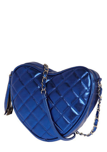 Conversation Hearts Shoulder Bag in Blue - Blue, Solid, Chain, Quilted, Special Occasion, Prom, Wedding, Party, Vintage Inspired