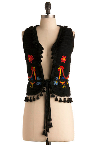 Vintage Obsidian Knit Vest