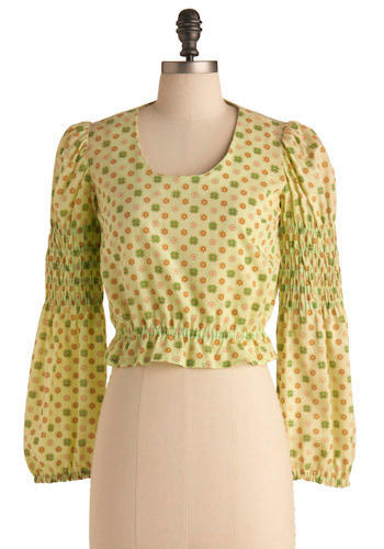 Vintage Lime Greenwich Blouse
