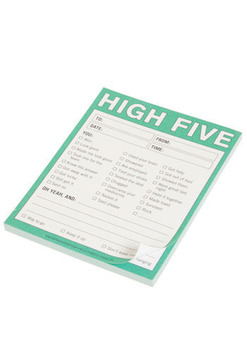 High Five Notepad by Knock Knock - Best Seller, Best Seller, Mint, Top Rated