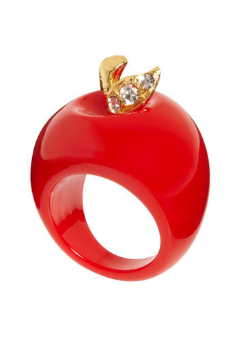 Ring of Knowledge - Red, Gold, Rhinestones