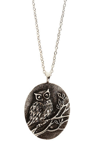 Owl-t On a Limb Necklace
