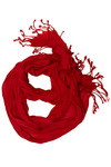 A Crinkle in Time Scarf in Red - Red, Solid, Fringed, Work, Casual