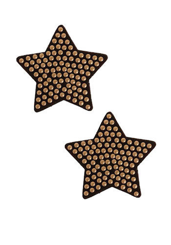 For Star-ters Earrings - Black, Gold, Studs, Party