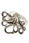 My Pet Octopus Ring - Silver, Gold, Nautical, Best Seller, Variation, Print with Animals, Silver