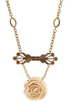 Rose Winner Necklace - Cream, Gold