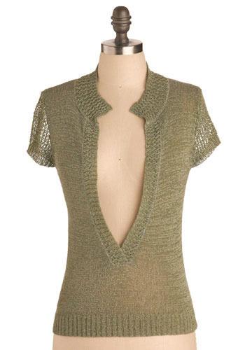 Vintage Sage Knit Shirt