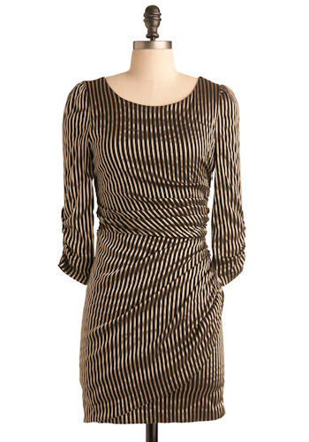 Sweet Little Lines Dress - Mid-length