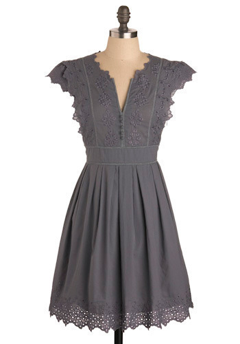 Pianola Dress in Grey by Ryu - Mid-length