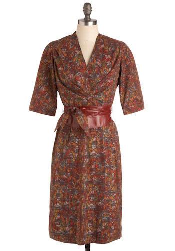 Vintage Cursive Dress