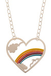 In the Name of Love Necklace - Multi, Silver, Orange, Yellow, Blue, Purple, Pink, White, Party, Work, Casual