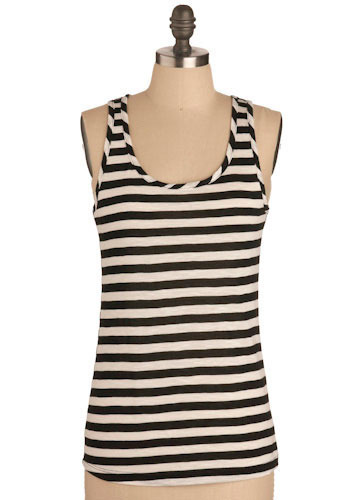Stripe the Good Stripe Top - Mid-length