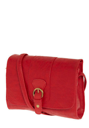 Never a Dull Moment Shoulder Bag - Red, Buckles, Party, Work, Casual