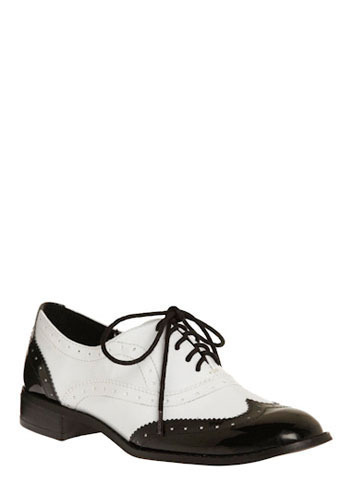 Wind Beneath Your Wingtip - Black, White, Formal, Wedding, Party, Work, Casual, Menswear Inspired, Vintage Inspired