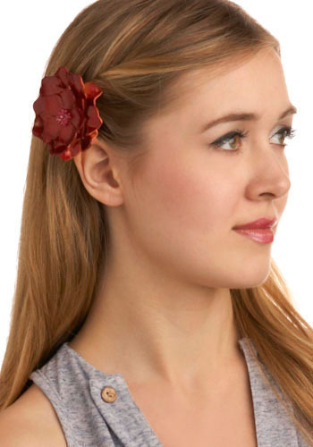 Primrose and Proper Hair Clip - Red, Flower, Casual