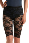 Alleycat Race Bike Shorts - Black, Floral, Lace, Party, Casual, Urban