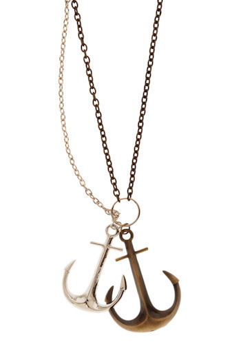 Galleon Necklace - Silver, Bronze, Nautical